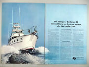 Hatteras 50 Yacht Double-page Print Ad - 1969