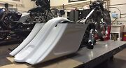 Harley Stretched Extended Saddle Bags And Rear Fender Tail Dragger 2009-2013