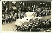Real Photo Muskegon Mi Michigan 1937 Centennial Parade Funeral Director Float