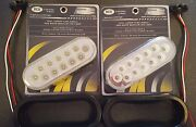 2 12 Led Amber Trux Dual Revolution 6 Oval Clear Lens Tail Turn Back-up Kit