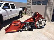 2008-earlier Harley Stretched Saddlebags And Rear Fender Short Neck 30 Combo