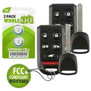 2 Replacement For 2005 2006 2007 2008 2009 2010 Honda Odyssey Key + Fob Remote