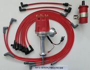 Small Cap Plymouth 73-78 400 Red Hei Distributor,45k Red Coil, Spark Plug Wires
