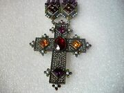 Heidi Daus Necklace Magnificent Choker 3 Purple Strands Crystal New