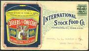 Intand039l Stock Food Co. Live Stock And Feed Minneapolis Minn Advand039t Cover Bt2995