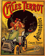 Poster Cycle Terrot French Automobile Car Train Travel Vintage Repro Free S/h