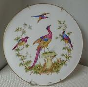 Spode Chelsea Bird 11 Collector Plate With Hanger Bone China Y8555-r England