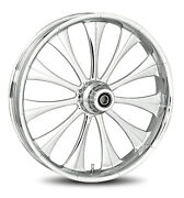 Rc Components Chrome Cynical 21 Front Wheel And Tire Harley 07-16 Fl Softail
