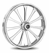 Rc Components Chrome Exile 18 Front Wheel And Tire Harley 07-16 Fl Softail