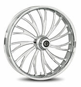 Rc Components Chrome Axxis 21 Front Wheel And Tire Harley 07-16 Flst W/ Abs