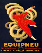Poster Equipneu French Car Tires Juggler Cappiello Vintage Repro Free S/h