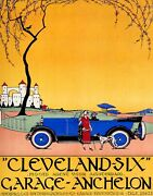 Poster Cleveland Six Automobile Luxury Car Amsterdam Vintage Repro Free S/h