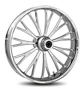Rc Components Chrome Dynasty Accent 16 Front Wheel And Tire Harley 08-17 Flh/t