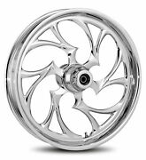 Rc Components Chrome Shifter 21 Front Wheel And Tire Harley 08-17 Flh W/o Abs