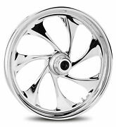 Rc Components Chrome Drifter 21 Front Wheel And Tire Harley 00-06 Fl Softail