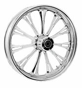 Rc Components Chrome Imperial 21 Front Wheel And Tire Harley 08-17 Flh W/o Abs