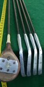 Vintage Antique Golf Clubs Woods Putters Irons Wright And Ditson Beeline Brentwood