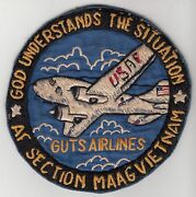 Wartime Us Air Force Maag Section Guts Airlines Patch 830