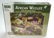 African Wildlife Tree Top Leopard Family 500 Piece Jigsaw Puzzle New Sealed