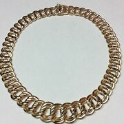 Italian 14k Yellow Gold Link Style Necklace 16.5