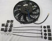 9 Inch Universal Curved S-blade Electric Radiator Cooling Fan W/ Mounting Kit