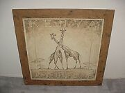 Exotic Well-framed Print In Glass Wall Decoration Cheap See Photos Selectvintage