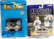 Space Lunar Rover - Apollo 15 - Carded Die Cast Model And Astronaut 4d Puzzle