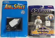 Space Apollo 11 Command Module Carded Die Cast Model And Astronaut 4d Puzzle