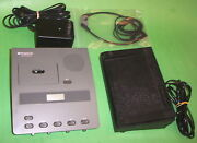 Dictaphone 3740 Microcassette Transcriber Ac Adapter, Pedal, Headset Warranty