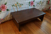 Handcrafted Heavy Duty Wooden Bedside Step Stool 7 Tall 14 X 24 L Pick Stain