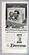 Paul Winchell And Jerry Mahoney For Emerson Tv Television Print Ad - 1953