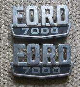 1960and039s 1970and039s Ford 9000 Truck Chrome Black Emblems Dohb-80020a68-a Set Pair
