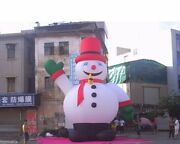 26and039 Inflatable Snowman Christmas Holiday Decoration With Blower