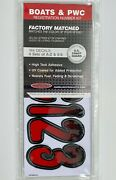 3 Inch Red/black Shaded Boat Lettersnumbersstickersnumber Kit Rebkg200