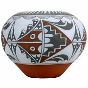 Vintage Collectible Polychrome Jemez Pueblo Pottery By Mary And Simon Small 1990