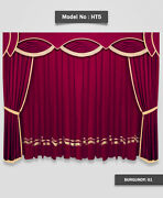 Saaria Stylish And Decorative Home Theater Stage Velvet Curtains 10'w X 8'h - Ht-5