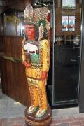 Cheers Tv Show 5foot Cigar Store Wooden Indian By Frank Gallagher