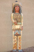 Cigar Store Indian 6and039 Chief W Thunderbird And Teepee Carved By Frank Gallagher