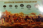 Heritage Barber 6 Coin Collection Morgan 1 4 Silver Liberty Nickel Indian Cent