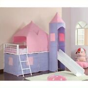 Coaster Princess Castle Twin Tent Loft Bed In Pink And Purple