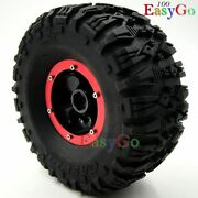 4pcs Rc Air Pneumatic Tires 135mm And 2.2 Beadlock Wheels For Axial Rc 4wd Crawler