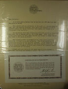 1992 American Bank Note Company Vignette Sheets Archive Set With Coa