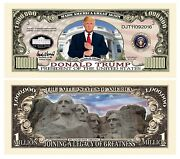 Donald Trump Million Dollar Legacy Bill 1 5 10 15 20 25 30 35 40 45 50 75 100
