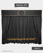 Saaria Ht-3 Home Stage Event Backdrop Movie Theater Velvet Curtains 22'w X 8'h