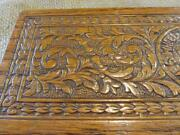 Vintage Ornate Sewing Trinket Wooden Box W Latch Antique Boxes Sew 9706