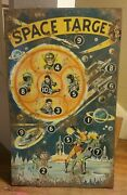 Extremely Rare Pre World War Space Target Tin Game 14x27 Display Piece 1ofkind