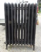 Antique Steam Radiator 10 Sections Cast Iron Old Plumbing Heating 2333-16 1