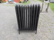 Antique Steam Radiator 10 Sections Cast Iron Old Plumbing Heating 2335-16 3
