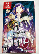 Rezero Starting Life In Another World Prophecy Of The Throne Day One Ed. Switch