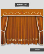 Saaria Ht-2 Church Event Stage Home Hall Decor Curtains Drapes 20and039w X 10and039h Rust
